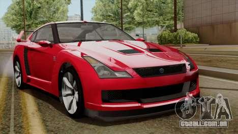 GTA 5 Elegy RH8 para GTA San Andreas esquerda vista