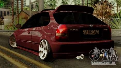 Honda Civic Hatchback B. O. Construção para GTA San Andreas esquerda vista
