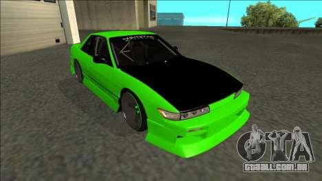 Nissan Silvia S13 Drift Monster Energy para GTA San Andreas esquerda vista