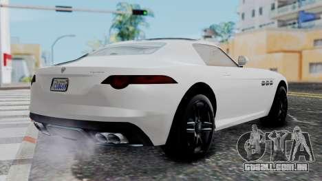 GTA 5 Benefactor Surano v2 para GTA San Andreas esquerda vista