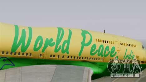Boeing 747-400 World Peace para GTA San Andreas vista traseira