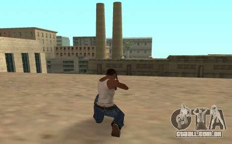 Espingarda com um filhote de tigre para GTA San Andreas segunda tela