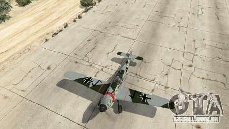 GTA 5 Messerschmitt BF-109 E3 v1.1 quarto screenshot
