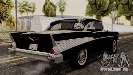 Chevrolet Bel Air Sport Coupe (2454) 1957 HQLM para GTA San Andreas esquerda vista
