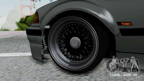 BMW M3 E36 Widebody v1.0 para GTA San Andreas traseira esquerda vista
