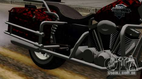 Classic Batik Motorcycle para GTA San Andreas vista traseira