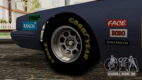 Pontiac GranPrix Hotring 1981 IVF para GTA San Andreas traseira esquerda vista