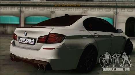 BMW M5 F10 Grey Demon para GTA San Andreas esquerda vista