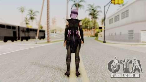 DOA 5 Ayane Ninja para GTA San Andreas terceira tela