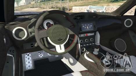 GTA 5 Toyota GT-86 v1.1 traseira direita vista lateral