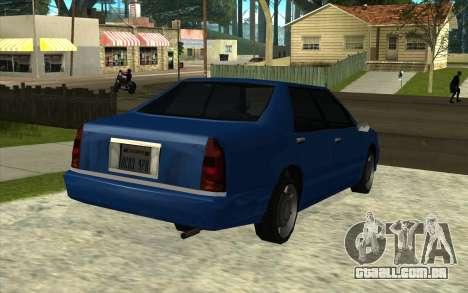Toyota Crown Majesta Estilo GTA para GTA San Andreas traseira esquerda vista