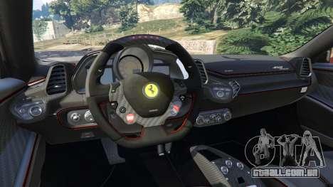 Ferrari 458 Italia 2009 v1.3 para GTA 5