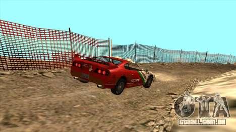Rally Jester para GTA San Andreas traseira esquerda vista