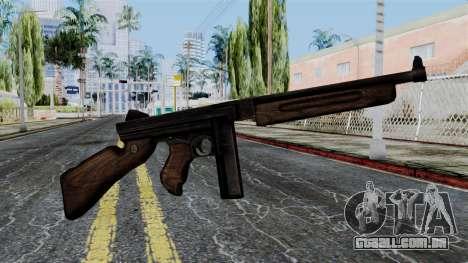 Thompson from Battlefield 1942 para GTA San Andreas terceira tela