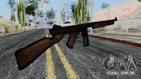 Thompson from Battlefield 1942 para GTA San Andreas segunda tela