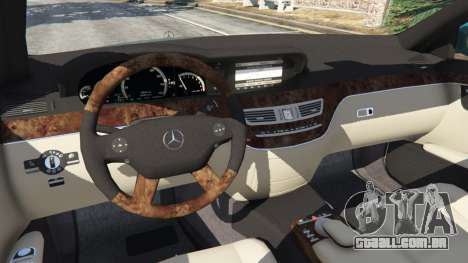 GTA 5 Mercedes-Benz S550 W221 v0.4.2 [Alpha] frente vista lateral direita