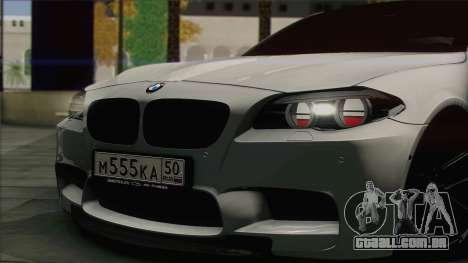 BMW M5 F10 Grey Demon para GTA San Andreas traseira esquerda vista
