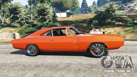 GTA 5 Dodge Charger 1970 Fast & Furious 7 vista lateral esquerda