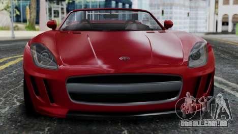 GTA 5 Benefactor Surano v2 IVF para GTA San Andreas vista traseira
