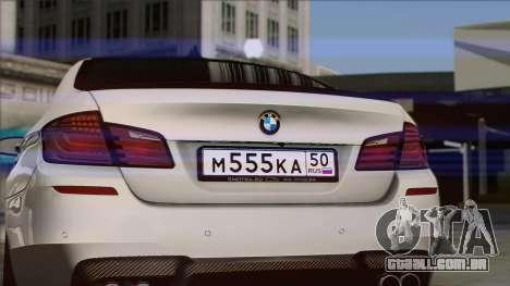 BMW M5 F10 Grey Demon para GTA San Andreas vista direita