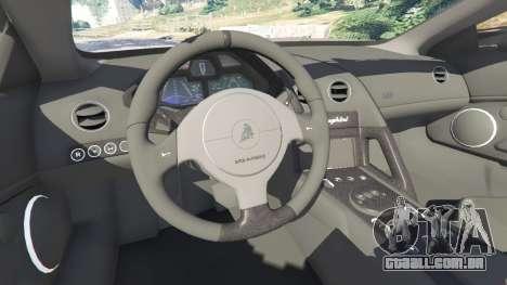 GTA 5 Lamborghini Reventon Roadster [Beta] frente vista lateral direita