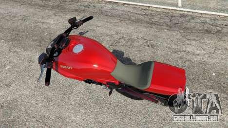 GTA 5 Ducati Diavel Carbon 2011 voltar vista
