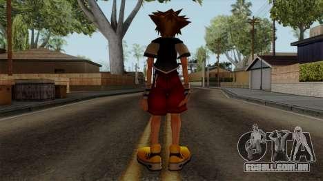 Kingdom Hearts 2 - Sora KH1 Costume para GTA San Andreas terceira tela