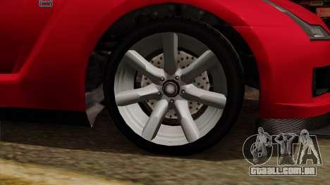 GTA 5 Elegy RH8 para GTA San Andreas vista direita