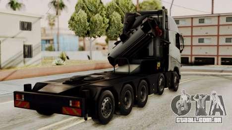 Volvo FH Euro 6 10x4 High Cab para GTA San Andreas esquerda vista
