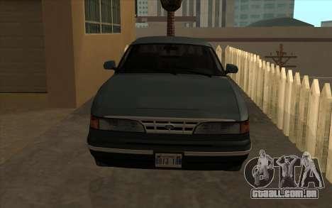 Ford Crown Victoria 1995 SA Estilo para GTA San Andreas esquerda vista
