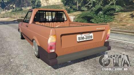 GTA 5 Volkswagen Saveiro Cli 1.6 [Edit] traseira vista lateral esquerda