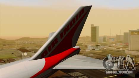 Boeing 747-237B Air India Flight 182 para GTA San Andreas traseira esquerda vista