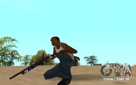 Espingarda com um filhote de tigre para GTA San Andreas terceira tela