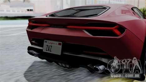 Lamborghini Asterion Concept 2015 v2 para vista lateral GTA San Andreas