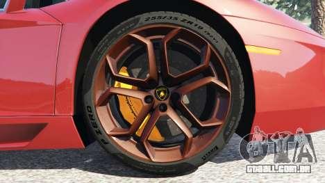 GTA 5 Lamborghini Aventador LP700-4 2012 traseira direita vista lateral