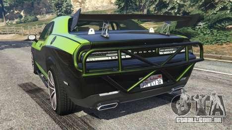 GTA 5 Dodge Challenger 2015 Shaker Furious 7 traseira vista lateral esquerda