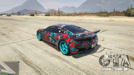 GTA 5 Dinka Jester (Automóvel) Adesivo de Bombardeio д traseira vista lateral esquerda