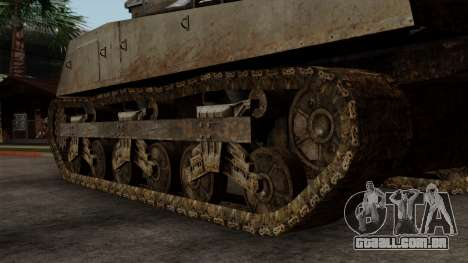 M4 Sherman from CoD World at War para GTA San Andreas traseira esquerda vista