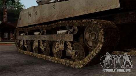 M4 Sherman from CoD World at War para GTA San Andreas traseira esquerda vista