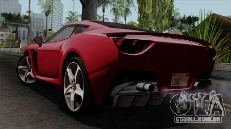 Grotti Carbonizzare FF para GTA San Andreas esquerda vista