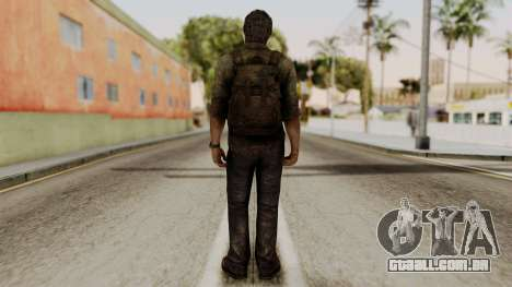 Joel - The Last Of Us para GTA San Andreas terceira tela