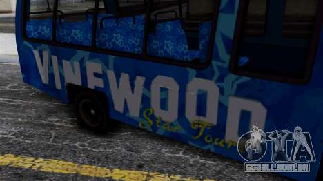 Vinewood VIP Star Tour Bus para GTA San Andreas vista direita