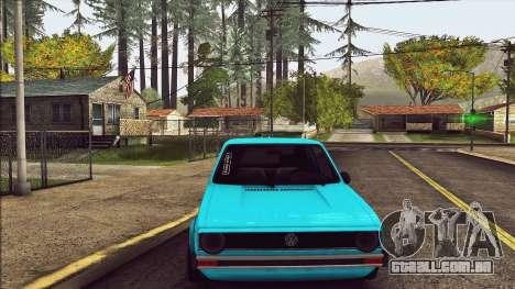 Volkswagen Golf MK1 para GTA San Andreas vista traseira