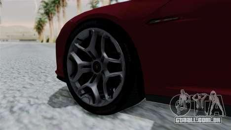 Lamborghini Asterion Concept 2015 v2 para GTA San Andreas traseira esquerda vista