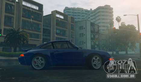 GTA 5 Porsche Carrera RS 1995 vista lateral esquerda