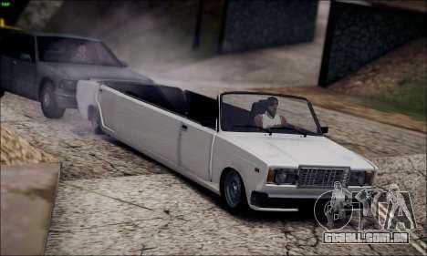 VAZ 2107 de limusina para GTA San Andreas