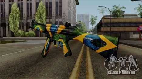 Brasileiro MP5 v2 para GTA San Andreas segunda tela