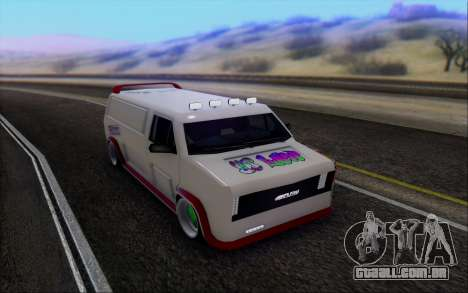 Burrito So Low para GTA San Andreas vista traseira