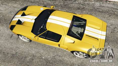 GTA 5 Ford GT 2005 v1.1 voltar vista