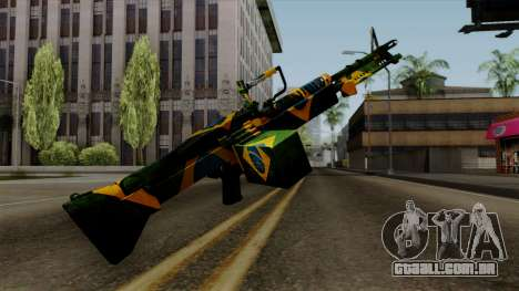 Brasileiro Minigun v2 para GTA San Andreas terceira tela